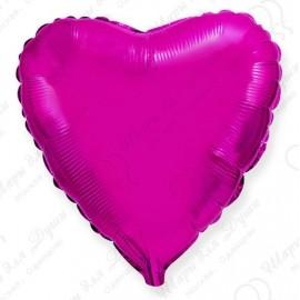 Фольгированное сердце пурпурное, 81 см.