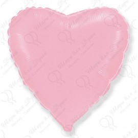 Фольгированное сердце - светло-розовый, 46 см.