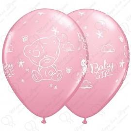 Воздушный шар Ура девочка! ME TO YOU TINY, пастель. 30 см.