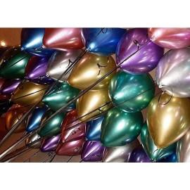 Воздушный шар хром ассорти, 30 см.