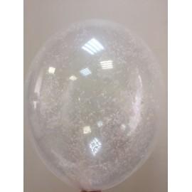 Воздушный шар c конфетти - снег, 30 см.