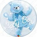 Мишка в шаре, голубой, 51 см.