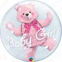 Мишка в шаре, розовый, 51 см.