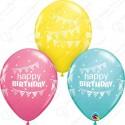 Воздушный шар Happy Birthday, ассорти, пастель. 30 см.