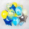 Фонтан шаров Агаты, синие.