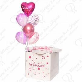 Подарочная коробка с шарами.