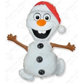 Фольгированный шар (32''81 СМ) фигура, снеговик
