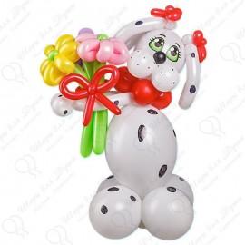 Собака из шариков