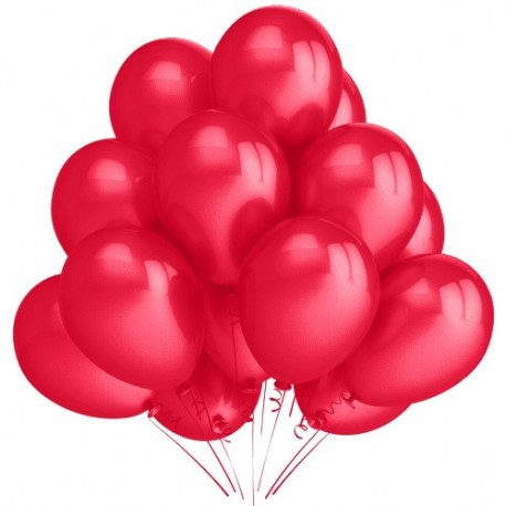 Воздушный шар красный, пастель, 30 см.