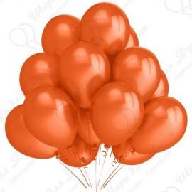 Воздушный шар 30 см оранжевый, пастель.