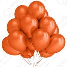 Воздушный шар 30 см оранжевый, металлик.