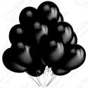 Воздушный шар 30 см черный, пастель.
