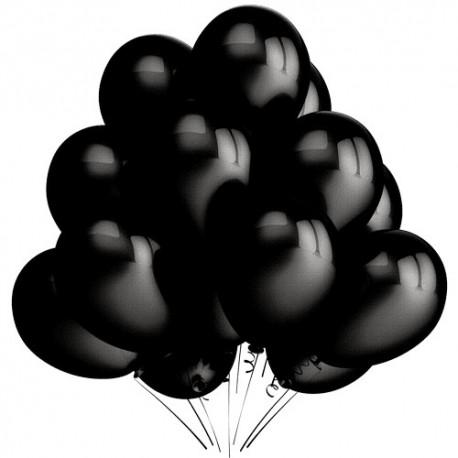 Воздушный шар черный, пастель, 30 см.