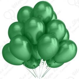 Воздушный шар 30 см зеленый, металлик.