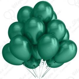 Воздушный шар темно-зеленый металлик, 30 см.