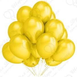 Воздушный шар желтый, металлик, 30 см.