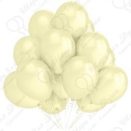 Воздушный шар 30 см светло-желтый, перламутр.