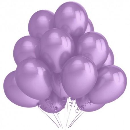 Воздушный шар сиреневый, пастель, 30 см