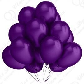 Воздушный шар 30 см фиолетовый, металлик.