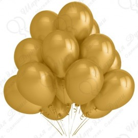 Воздушный шар 30 см золото, металлик.