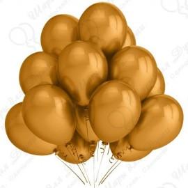 Воздушный шар  30 см золото яркое, металлик.