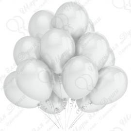 Воздушный шар 30 см белый, перламутр.