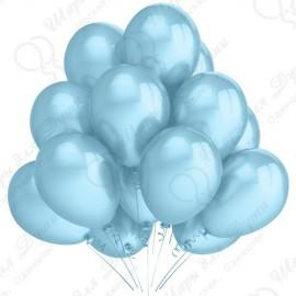 Воздушный шар 30 см карибская синева, перламутр.