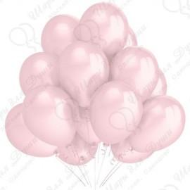 Воздушный шар 30 см светло-розовый, пастель.