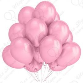 Воздушный шар розовый пастель, 30 см.