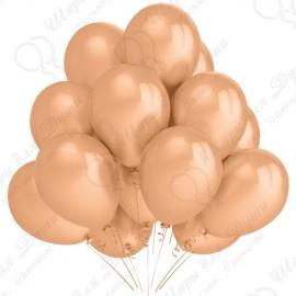 Воздушный шар 30 см персиковый, пастель.