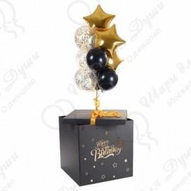 Коробка с шарами черная.