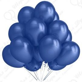 Воздушный шар 30 см синий, пастель.