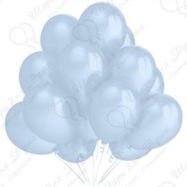 Воздушный шар 30 см, голубой, перламутр.