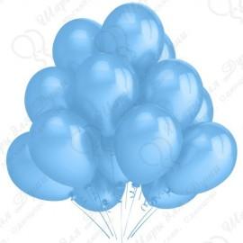 Воздушный шар 30 см, голубой, пастель.