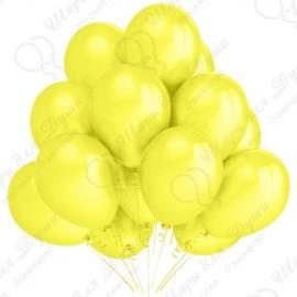 Воздушный шар 30 см, желтый, пастель.