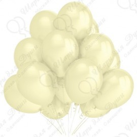 Воздушный шар 30 см слоновая кость, перламутр.