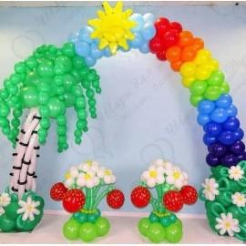 Оформление шарами на выпускной в детском саду