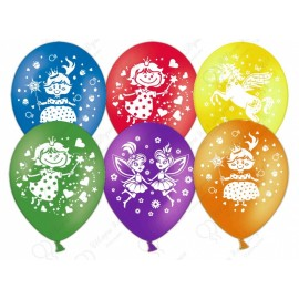 Воздушный шар  для девочек, ассорти, пастель, 30 см.