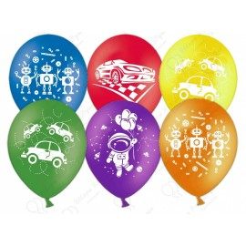 Воздушный шар  для мальчиков, ассорти, пастель, 30 см.
