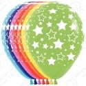 Воздушный шар 30 см Звезды, ассорти, пастель.