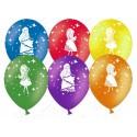 Воздушный шар 30 см  Принцессы, ассорти, пастель.
