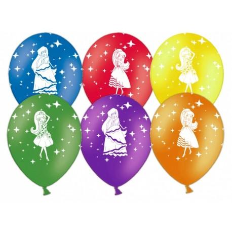 Воздушный шар - Принцессы, ассорти, пастель, 30 см.