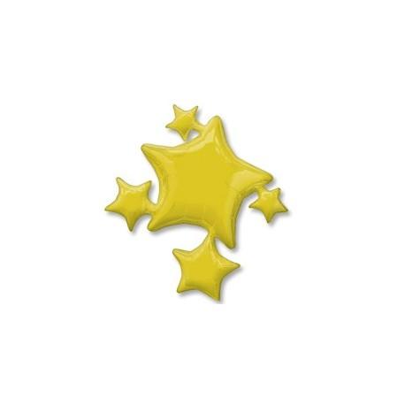 Фольгированный шар - Звезды золотые. 64 см.