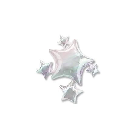 Фольгированный шар - Звезды титановые. 64 см.