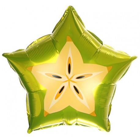 Фольгированный шар - Звезда Карамбола. 46 см.