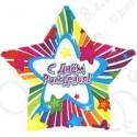 Фольгированный шар 46 см Звезда С Днем Рождения.