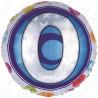Фольгированный шар - цифра 0. 46 см.