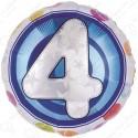 Фольгированный шар - цифра 4.