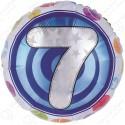 Фольгированный шар - цифра 7.