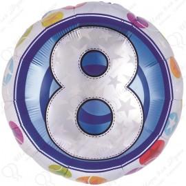 Фольгированный шар - цифра 8.
